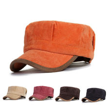 Corduroy snapback hat