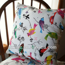 Linen chair cushion quietly elegant household decorative pillow/wholesale quality bird pillowcases