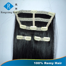 Wholesale Double Drawn Black Hair 100% Human Remy Hair clip hair extensions chinese