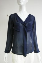 New arrival ladies' sheer chiffon woven blouse