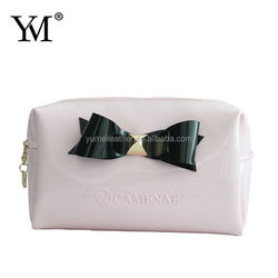 2014 NEW finished black bow waterproof pvc cosmetic bag