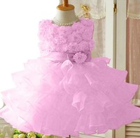 девочки детский 3d цветок пачка слоистых Принцесса партии лук дети формальных платье