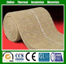 80kg/m3 density 100mm thick Fire insulation rock wool batts