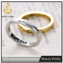 925 sterling silver lovers rings, couples rings,wedding silver rings jewelry wholesale