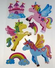 Removeable Glitter niños de la historieta 3D decoración de la habitación del arte del adorno etiqueta de la pared