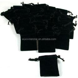 Factory direct sell custom design jewellery velvet pouch