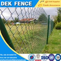 Chain link perimeter wire fence designs