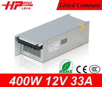 China factory price constant voltage single output CE ROHS approved 400w 33 ampere 12 volt 110v dc power supply meanwell