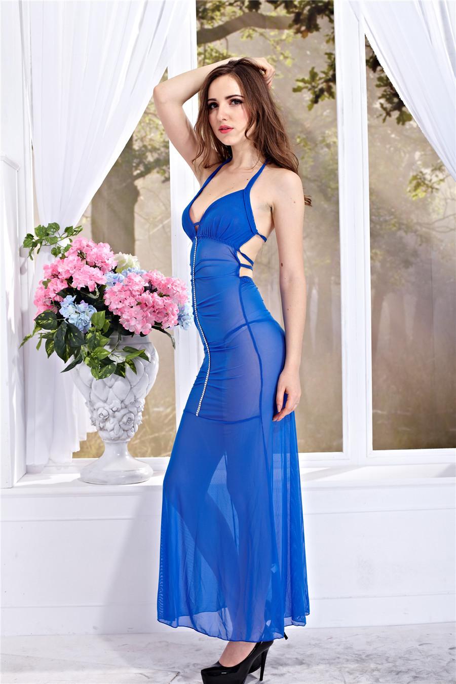 섹시한 성인 드레스 잠옷에 대한 최소한의 섹시한 사진 란제리 스트랩 드레스 없음