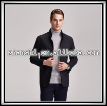 Men winter wool short jacket with cashmere
