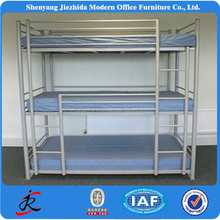 bed room furnuture iron bed metal steel pipe triple bunk bed 3 layers