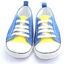 comfortable wholesales blue baby canvas shoes