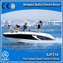 2014 New design SANJ High Speed Sport Yacht SJF21A summer friend