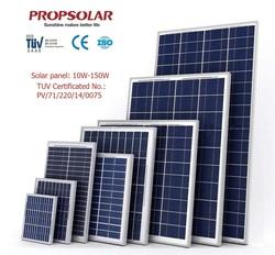 150w high quality polysilicon solar panel for industrial solar power generator