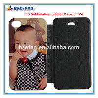 Top Quality 3D Blank Sublimation Printing Leather Case Cover for ip4 Sublimation Mobile Phone Case