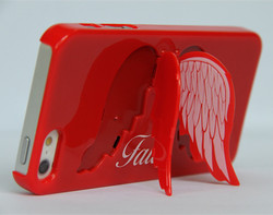 low price &latset design plastic wings of angel phone case for iphone
