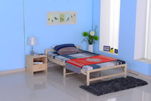 Elegant King Size Wooden Double Bed for North America Market