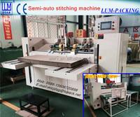 high speed semi automatic box stitching machine/ stapling machine/ corrugated box machinery CE & ISO9001