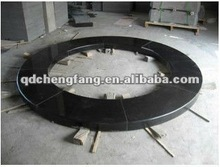 Black granite round pool bullnose coping stone