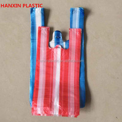 HDPE/LDPE T-shirt Plastic Bag/Carrier Bag for supermarket,hotel,mall,custom retail plastic shopping bag for supermarket trolle
