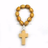 Best sale flat pine rosary finger ring
