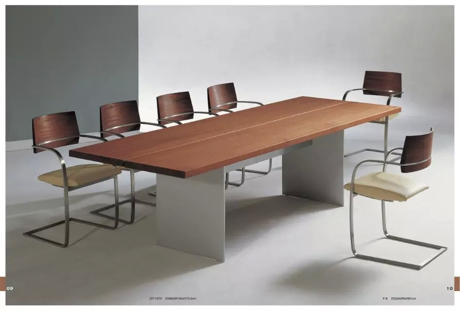 Post modern style simple designs stainless 10 seater for 10 seater dining table sets