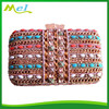 metal crystal oversized clutch bag for girls