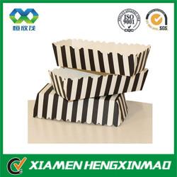 Zebra printing custom design paper tray for fast food
