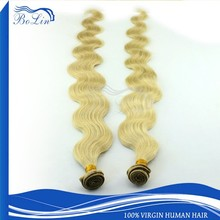Alibaba Best Seller Full Cuticle Double Drawn 613 Blonde Color Human Hair Weaving
