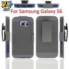 Belt Clip TPU Phone Combo Case Cover for Samsung Galaxy S6