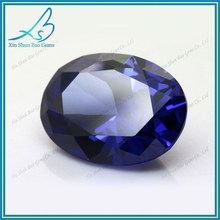 Oval changing blue cubic zirconia aaa