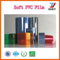 Nomal transparent clear PVC film soft PVC film for packaging in rolls