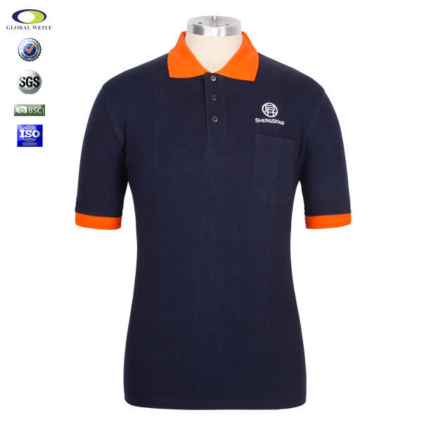 Custom logo cheap uniform polo shirts design view uniform for Cheap custom embroidered polo shirts