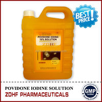 Povidone iodine solution 10% Disinfectant for poultry equipment disinfectant
