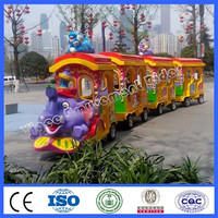 Amusement park ride trackless elephant train
