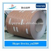 2016 new brick pattern design PPGI prepainted galvanized steel coil supply in Turkey, Ukraine, Korea, etc.