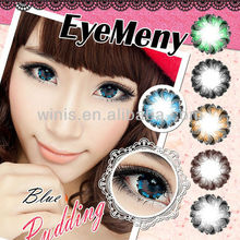 2015 hot selling make up cosmetics yearly 22.8mm diameter big eyes korea contact lens wholesale