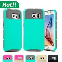 Hybrid Slim Shockproof hybrid cell phone case For Samsung Galaxy S6