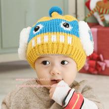 2015 New Design Children Caps Winter Cute Robot Wool Knitted Hats