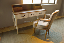 2015 Classical Solid Wooden Writing Desk in White Color