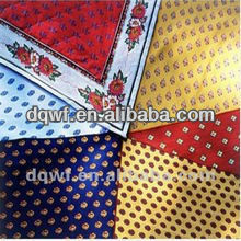 Fabric new product cloth fabric polyester bright satin lining flower girl dress printed polyester satin