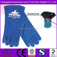 """Blue Safe leather working protective welding gloves 12""""14"""""""