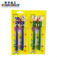 2014 new arrival soliders ball pens 2PCS/lot cute cartoon stationery pen solid pen 0.5mm black refill students present prizes