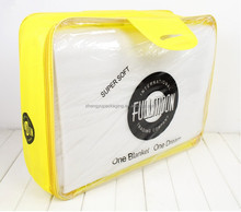 custom large yellow clear pvc non woven plastic mattress storage cover protector bags