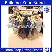 Round metal display rack retail clothes store fixtures