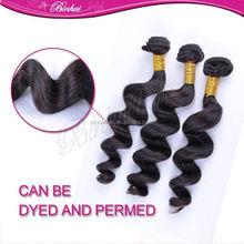 Brazilian loose wave no knots ,no shedding 6A wholesale remy hair