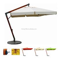 Outdoor wooden sun garden parasol swimming pool umbrella