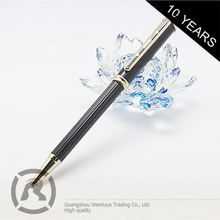 Retail Excellent Stylish Custom Shape Printed Metal Gold Rose Roller Ball Pen