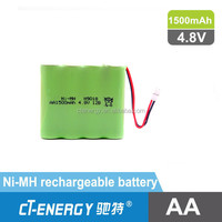 AA 1500mAh 4.8V Ni-MH Battery Pack