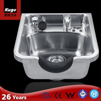 kuge stainless steel sanitary ware sink for barber